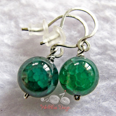 Twice Around the World (TAW) wire wrapped earrings