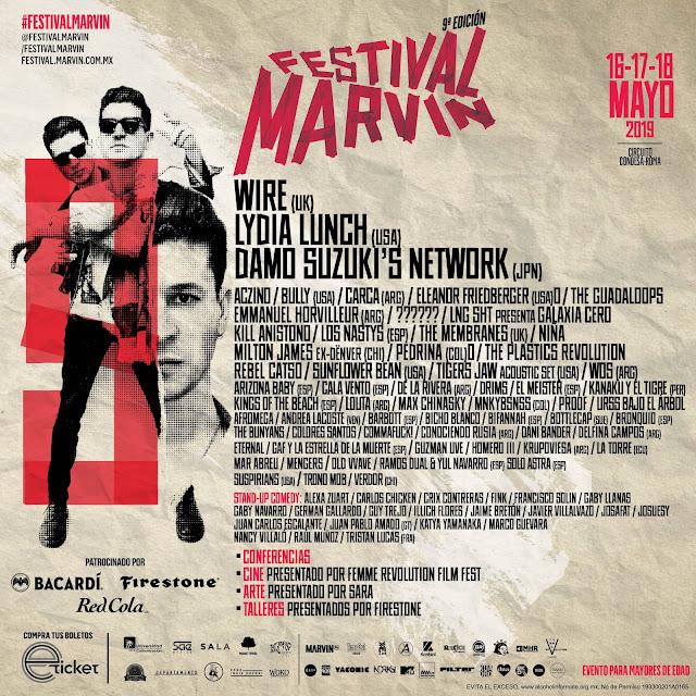 Festival Marvin 2019 Bandas