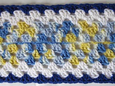 free crochet pattern, granny rectangle, scrapbuster