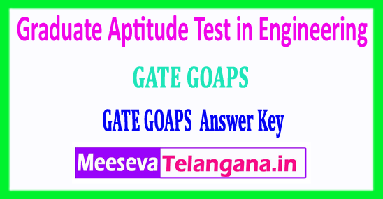 GATE Answer Key 2018 Graduate Aptitude Test in Engineering 2018 Answer Key Download