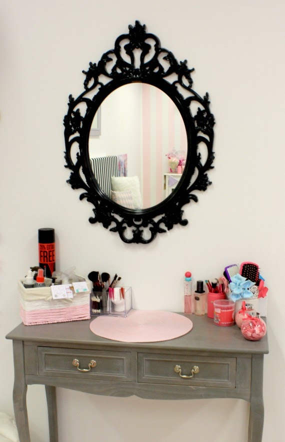 Image of make up table and hair accessories