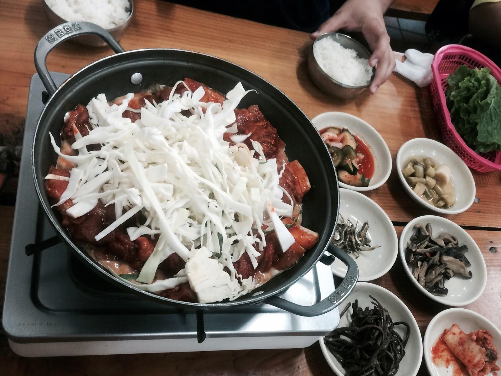 South Korea, Jeju Island, Yonsei University, YISS 2014, Spicy pork lunch