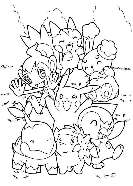 Tranh tô màu Pokemon 18