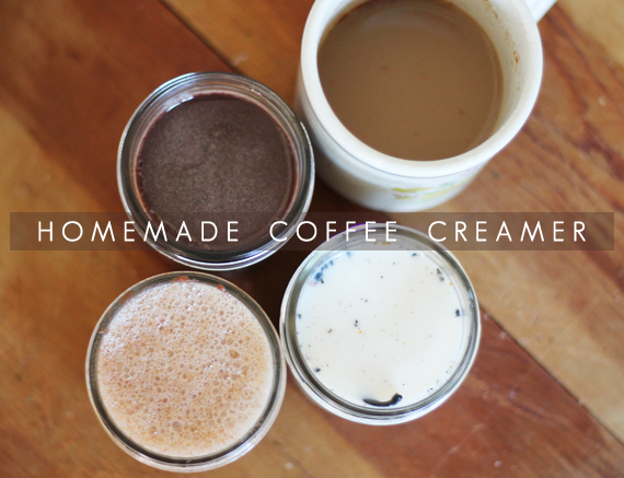 Homemade Coffee Creamer // Bubby and Bean