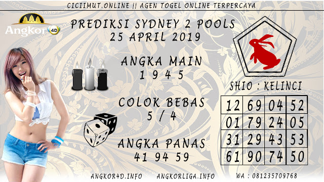 Prediksi Angka Jitu SYDNEY 2 POOLS 25 APRIL 2019