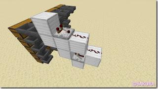 マインクラフト 水流を使った自動仕分け機 コンパレーターとレッドストーンダスト