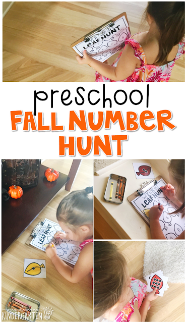 We're going on a leaf hunt! This fun movement/scavenger hunt activity for number and color recognition gets kids moving and learning at the same times. Great for tot school, preschool, or even kindergarten!