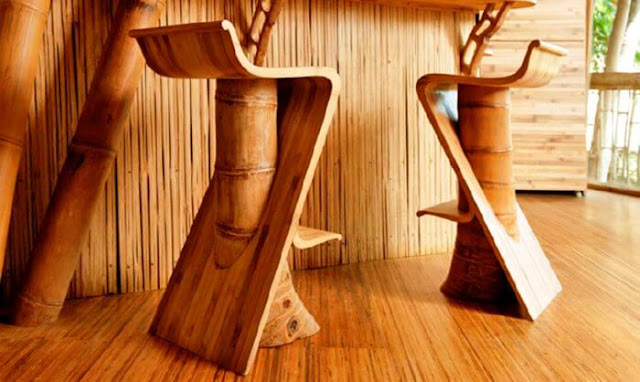 Furniture bambu tak kalah dengan kayu