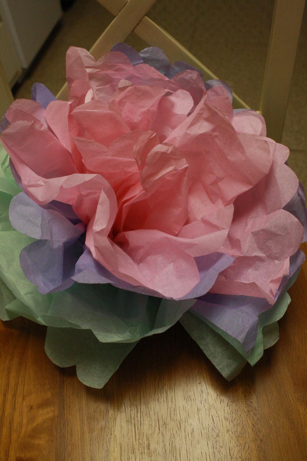 Easy Tissue Paper Flower Our Good Life
