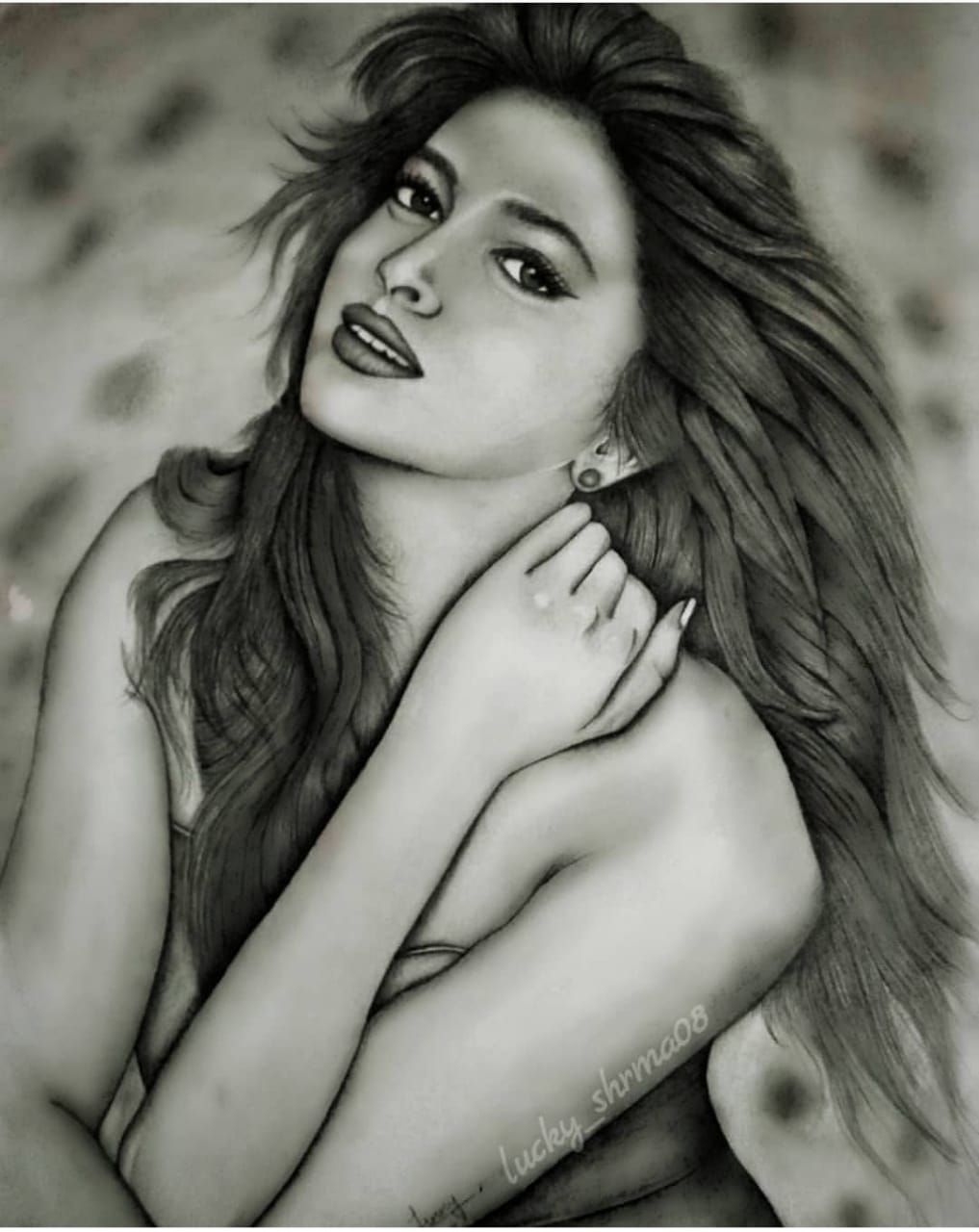 Pencil sketch art deepika padukone