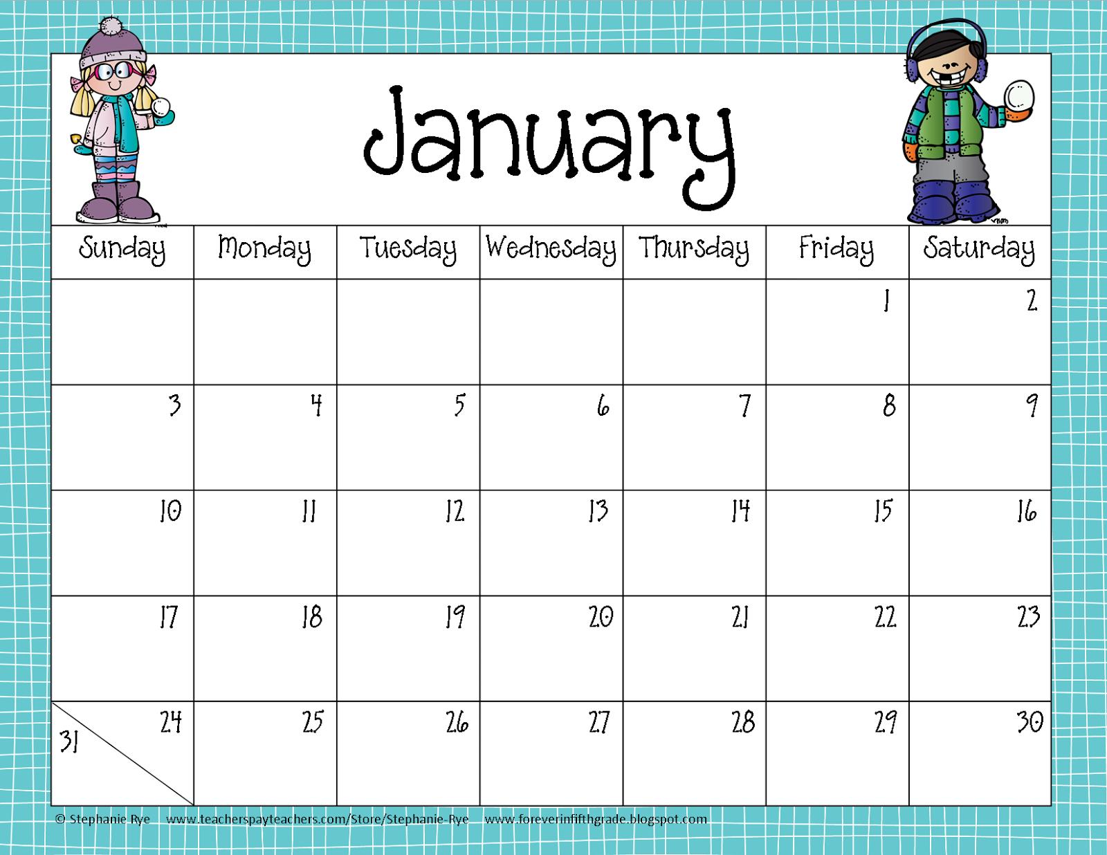 Fifth Grade Freebies School Year Calendar Freebie