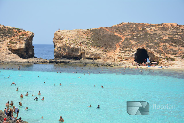 Malta, Comino - Blue Lagoon to darmowa atrakcja Malty - jak się dostać na Comino