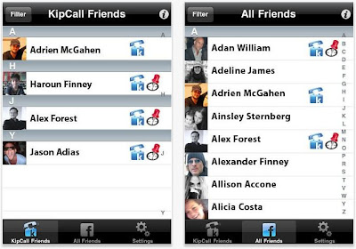 Kipcall iPhone app
