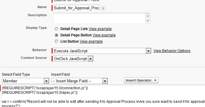 Infallible Techie: Calling Apex method from a Custom Button
