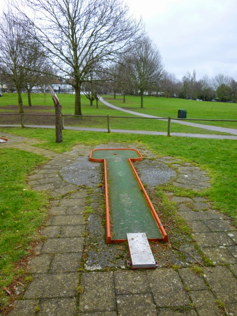 Minigolf course at Woodlands Park in Gravesend, Kent