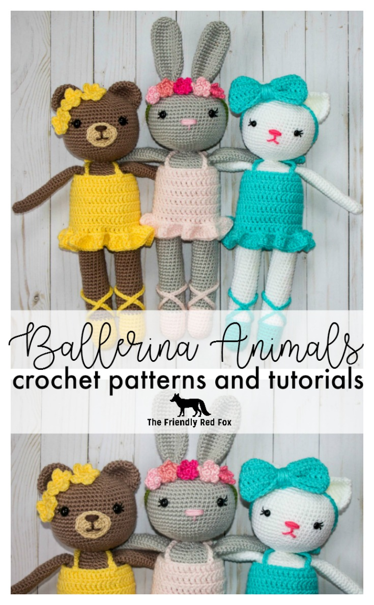 Ballerina Animals Crochet Patterns Thefriendlyredfoxcom