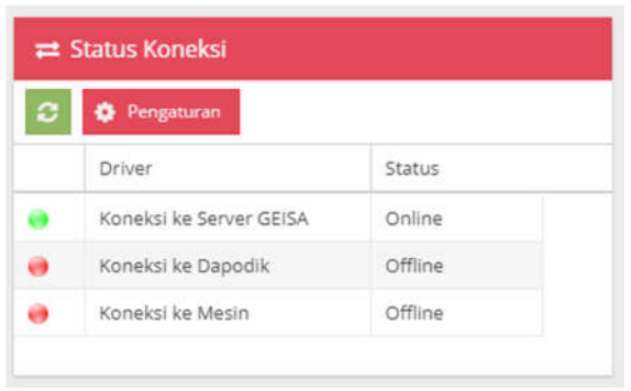 Status Koneksi Geisa Client