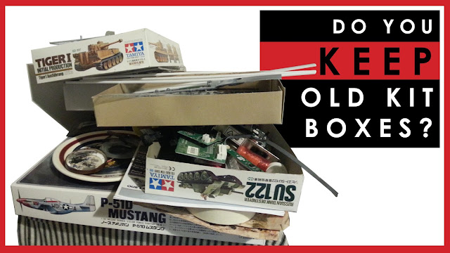 Do you keep old boxes from scale model kits you have built?