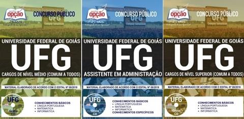 apostila do concurso da UFG 2018 Assistente em Administração.