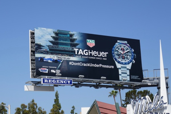 Tag Heuer Indy 500 watch billboard