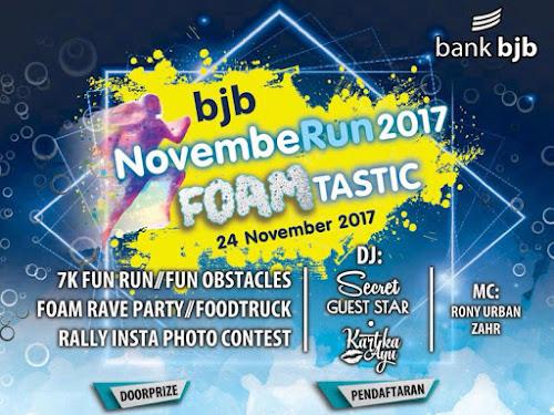 Cara pendaftaran BJB November Run 2017 Foamtastic