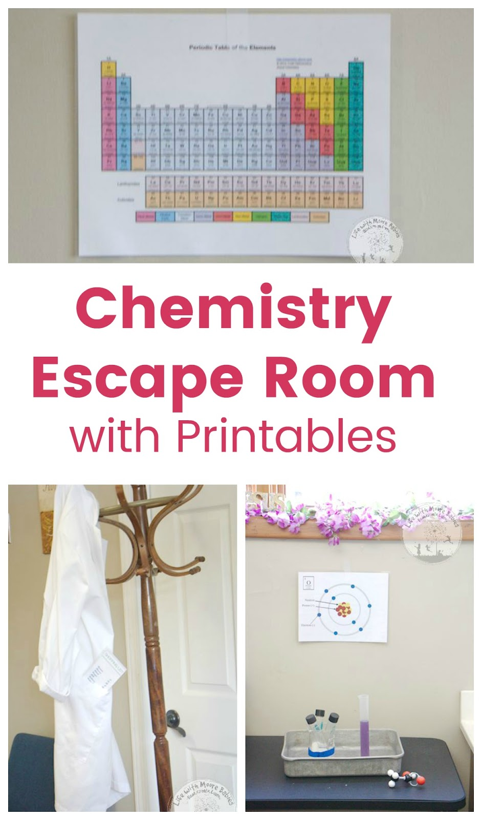 picture regarding Free Printable Escape Room Puzzles named Have interaction Small children with a Chemistry Escape Area - Daily life with Moore