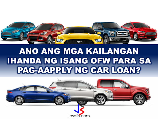 "If you are an OFW who is planning to buy a new car in the Philippines and you are currently at your host country, you might be facing some hassles like difference in timezones, long distance call rates when inquiring for a unit, submitting documents, etc. AutoDeal made purchasing a car convenient to our modern heroes. Although their OFW Assist Program  is only limited to buying a Ford vehicle, they made car purchases so convenient that they considered every aspect of the situation suited for the OFWs.  Before making an actual purchase, they advised that you should get a car loan first. It will enable you to make a smooth purchasing process and drive your dream car home with no worries.    OFW RECALLS ONLINE ASSIST EXPERIENCE FROM FORD Renante Bendaña 40, a Sales Support Engineer in a steel construction company in Jeddah, after a  15-hour flight last December, went straight to the Ford Cainta dealership to purchase his first family car, a token for his loved ones after years of working abroad as an OFW. Bendaña first tried his luck abroad in 2005 with his wife Lucy. In 2013, Lucy chose to return home to take care of their two children. Last year, the family decided to purchase a car to help Lucy with the daily grind of being a hands-on mother. Bendaña learned of the Ford OFW Assist Program while browsing for a perfect car for the family.  What are the requirements for a car loan?                     The OFW Electron Card (E-Card) is an identification card issued by the Department of Labor and Employment (DoLE).  If you are a land based OFW, you can get the E-Card at the following offices:   Philippine Overseas Employment Administration (POEA) Head Office  POEA Regional Office in Cebu City  OWWA Head Office, Singapore    United Arab Emirates (Abu Dhabi & Dubai)  Make sure that your requirements are complete to make the application or the transaction smooth. The faster you'll get the car, the happier you will be with your family.   Recommended: NATIONAL PORTAL AND NATIONAL BROADBAND PLAN TO  SPEED UP INTERNET SERVICES IN THE PHILIPPINES In a Facebook post of Agriculture Secretary Manny Piñol, he said that after a presentation made by Dept. of Information and Communications Technology (DICT) Secretary Rodolfo Salalima, Pres. Duterte emphasized the need for faster communications in the country.Pres. Duterte earlier said he would like the Department of Information and Communications Technology (DICT) ""to develop a national broadband plan to accelerate the deployment of fiber optics cables and wireless technologies to improve internet speed."" As a response to the President's SONA statement, Salalima presented the  DICT's national broadband plan that aims to push for free WiFi access to more areas in the countryside.  Good news to the Filipinos whose business and livelihood rely on good and fast internet connection such as stocks trading and online marketing. President Rodrigo Duterte  has already approved the establishment of  the National Government Portal and a National Broadband Plan during the 13th Cabinet Meeting in Malacañang today. In a facebook post of Agriculture Secretary Manny Piñol, he said that after a presentation made by Dept. of Information and Communications Technology (DICT) Secretary Rodolfo Salalima, Pres. Duterte emphasized the need for faster communications in the country. Pres. Duterte earlier said he would like the Department of Information and Communications Technology (DICT) ""to develop a national broadband plan to accelerate the deployment of fiber optics cables and wireless technologies to improve internet speed."" As a response to the President's SONA statement, Salalima presented the  DICT's national broadband plan that aims to push for free WiFi access to more areas in the countryside.  The broadband program has been in the work since former President Gloria Arroyo but due to allegations of corruption and illegality, Mrs. Arroyo cancelled the US$329 million National Broadband Network (NBN) deal with China's ZTE Corp.just 6 months after she signed it in April 2007.  Fast internet connection benefits not only those who are on internet business and online business but even our over 10 million OFWs around the world and their families in the Philippines. When the era of snail mails, voice tapes and telegram  and the internet age started, communications with their loved one back home can be much easier. But with the Philippines being at #43 on the latest internet speed ranks, something is telling us that improvement has to made.                RECOMMENDED  BEWARE OF SCAMMERS!  RELOCATING NAIA  THE HORROR AND TERROR OF BEING A HOUSEMAID IN SAUDI ARABIA  DUTERTE WARNING  NEW BAGGAGE RULES FOR DUBAI AIRPORT    HUGE FISH SIGHTINGS    NATIONWIDE SMOKING BAN SIGNED BY PRESIDENT DUTERTE In January, Health Secretary Paulyn Ubial said that President Duterte had asked her to draft the executive order similar to what had been implemented in Davao City when he was a mayor, it is the ""100% smoke-free environment in public places.""Today, a text message from Sec. Manny Piñol to ABS-CBN News confirmed that President Duterte will sign an Executive Order to ban smoking in public places as drafted by the Department of Health (DOH). If you know someone who is sick, had an accident  or relatives of an employee who died while on duty, you can help them and their families  by sharing them how to claim their benefits from the government through Employment Compensation Commission.  Here are the steps on claiming the Employee Compensation for private employees.        Step 1. Prepare the following documents:  Certificate of Employment- stating  the actual duties and responsibilities of the employee at the time of his sickness or accident.  EC Log Book- certified true copy of the page containing the particular sickness or accident that happened to the employee.  Medical Findings- should come from  the attending doctor the hospital where the employee was admitted.     Step 2. Gather the additional documents if the employee is;  1. Got sick: Request your company to provide  pre-employment medical check -up or  Fit-To-Work certification at the time that you first got hired . Also attach Medical Records from your company.  2. In case of accident: Provide an Accident report if the accident happened within the company or work premises. Police report if it happened outside the company premises (i.e. employee's residence etc.)  3 In case of Death:  Bring the Death Certificate, Medical Records and accident report of the employee. If married, bring the Marriage Certificate and the Birth Certificate of his children below 21 years of age.      FINAL ENTRY HERE, LINKS OTHERS   Step 3.  Gather all the requirements together and submit it to the nearest SSS office. Wait for the SSS decision,if approved, you will receive a notice and a cheque from the SSS. If denied, ask for a written denial letter from SSS and file a motion for reconsideration and submit it to the SSS Main office. In case that the motion is  not approved, write a letter of appeal and send it to ECC and wait for their decision.      Contact ECC Office at ECC Building, 355 Sen. Gil J. Puyat Ave, Makati, 1209 Metro ManilaPhone:(02) 899 4251 Recommended: NATIONAL PORTAL AND NATIONAL BROADBAND PLAN TO  SPEED UP INTERNET SERVICES IN THE PHILIPPINES In a Facebook post of Agriculture Secretary Manny Piñol, he said that after a presentation made by Dept. of Information and Communications Technology (DICT) Secretary Rodolfo Salalima, Pres. Duterte emphasized the need for faster communications in the country.Pres. Duterte earlier said he would like the Department of Information and Communications Technology (DICT) ""to develop a national broadband plan to accelerate the deployment of fiber optics cables and wireless technologies to improve internet speed."" As a response to the President's SONA statement, Salalima presented the  DICT's national broadband plan that aims to push for free WiFi access to more areas in the countryside.   Read more: http://www.jbsolis.com/2017/03/president-rodrigo-duterte-approved.html#ixzz4bC6eQr5N Good news to the Filipinos whose business and livelihood rely on good and fast internet connection such as stocks trading and online marketing. President Rodrigo Duterte  has already approved the establishment of  the National Government Portal and a National Broadband Plan during the 13th Cabinet Meeting in Malacañang today. In a facebook post of Agriculture Secretary Manny Piñol, he said that after a presentation made by Dept. of Information and Communications Technology (DICT) Secretary Rodolfo Salalima, Pres. Duterte emphasized the need for faster communications in the country. Pres. Duterte earlier said he would like the Department of Information and Communications Technology (DICT) ""to develop a national broadband plan to accelerate the deployment of fiber optics cables and wireless technologies to improve internet speed."" As a response to the President's SONA statement, Salalima presented the  DICT's national broadband plan that aims to push for free WiFi access to more areas in the countryside.  The broadband program has been in the work since former President Gloria Arroyo but due to allegations of corruption and illegality, Mrs. Arroyo cancelled the US$329 million National Broadband Network (NBN) deal with China's ZTE Corp.just 6 months after she signed it in April 2007.  Fast internet connection benefits not only those who are on internet business and online business but even our over 10 million OFWs around the world and their families in the Philippines. When the era of snail mails, voice tapes and telegram  and the internet age started, communications with their loved one back home can be much easier. But with the Philippines being at #43 on the latest internet speed ranks, something is telling us that improvement has to made.                RECOMMENDED  BEWARE OF SCAMMERS!  RELOCATING NAIA  THE HORROR AND TERROR OF BEING A HOUSEMAID IN SAUDI ARABIA  DUTERTE WARNING  NEW BAGGAGE RULES FOR DUBAI AIRPORT    HUGE FISH SIGHTINGS    NATIONWIDE SMOKING BAN SIGNED BY PRESIDENT DUTERTE In January, Health Secretary Paulyn Ubial said that President Duterte had asked her to draft the executive order similar to what had been implemented in Davao City when he was a mayor, it is the ""100% smoke-free environment in public places.""Today, a text message from Sec. Manny Piñol to ABS-CBN News confirmed that President Duterte will sign an Executive Order to ban smoking in public places as drafted by the Department of Health (DOH).  Read more: http://www.jbsolis.com/2017/03/executive-order-for-nationwide-smoking.html#ixzz4bC77ijSR   EMIRATES ID CAN NOW BE USED AS HEALTH INSURANCE CARD  TODAY'S NEWS THAT WILL REVIVE YOUR TRUST TO THE PHIL GOVERNMENT  BEWARE OF SCAMMERS!  RELOCATING NAIA  THE HORROR AND TERROR OF BEING A HOUSEMAID IN SAUDI ARABIA  DUTERTE WARNING  NEW BAGGAGE RULES FOR DUBAI AIRPORT    HUGE FISH SIGHTINGS    EMIRATES ID CAN NOW BE USED AS HEALTH INSURANCE CARD"