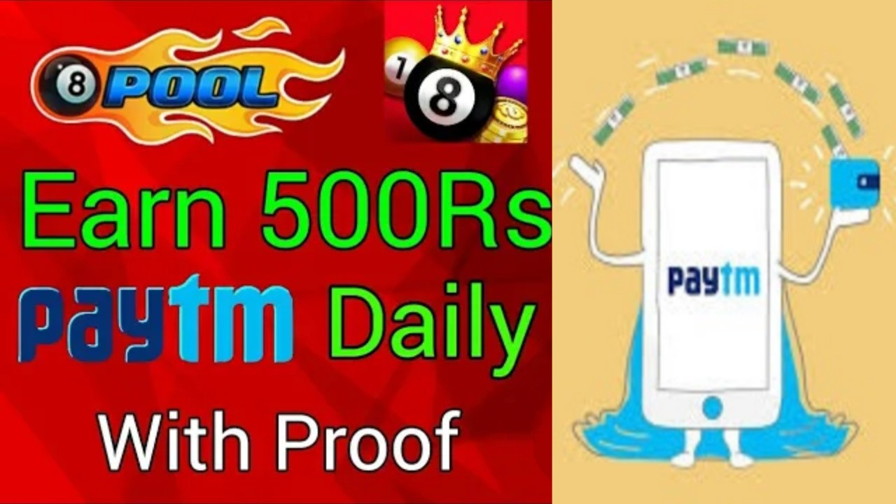Earn Paytm Cash By Playing Stick Pool Club 20₹ SignUp Bonus + Refer