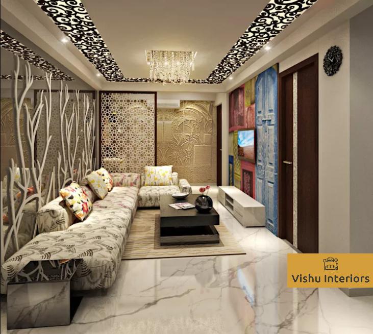 15 Peaceful Asian Living Room Interiors Designed For Comfort: VISHU INTERIORS: Creative Interior Design Ideas For Indian