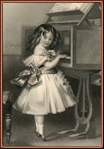 Elizabeth Jane al piano. Grabado