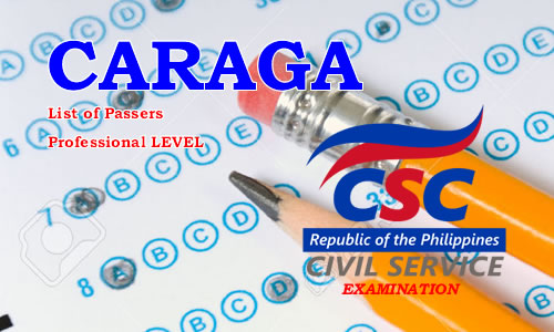 List of Passers CARAGA Region August 2017 CSE-PPT Professional Level