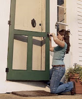 installing screen door hinges