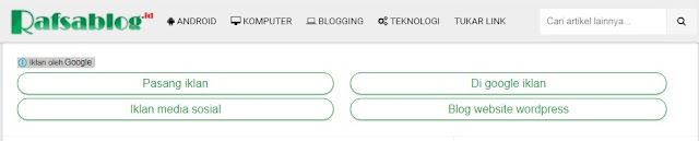 Cara Membuat Iklan Tautan di Blog