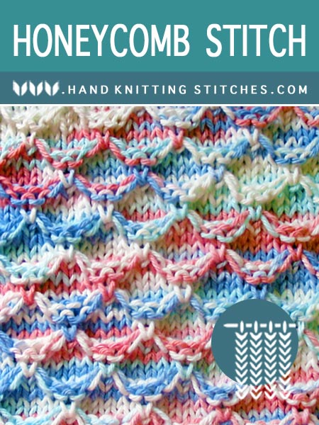 Hand #Knitting Stitches - Honeycomb #SlipStitchPattern