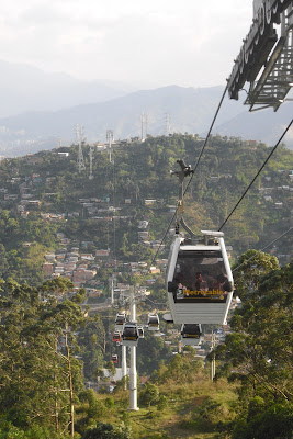 Stunning views of Medellin from the city's cheap Metro-Cable - it gives you a birds eye view of the sex tourism in operation!