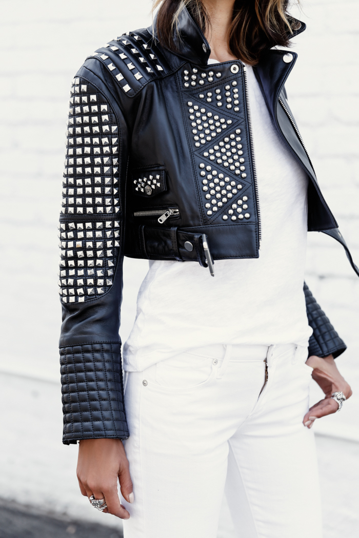 THE KOOPLES Studded leather jacket