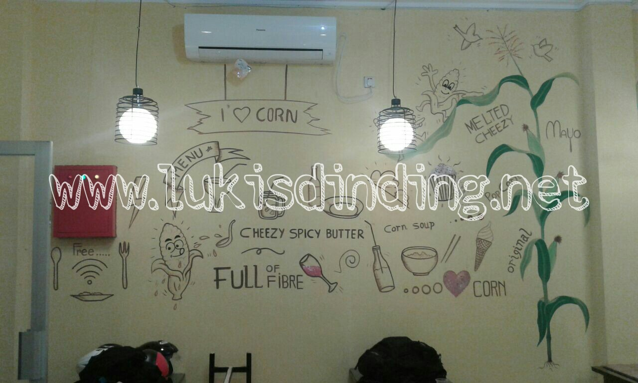 Lukis tembok cafe lukisan mural cafe lukisan dinding for Mural untuk cafe