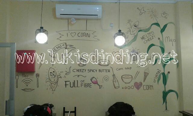 www.lukisdinding.net lukis dinding cafe   Lukis mural
