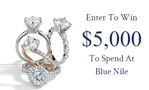 Enter today for your chance to win $5,000 towards Blue Nile's unrivaled selection of exceptional quality diamonds, engagement rings, and fine jewelry!