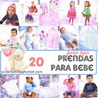 20 patrones de prendas de vestir para bebes
