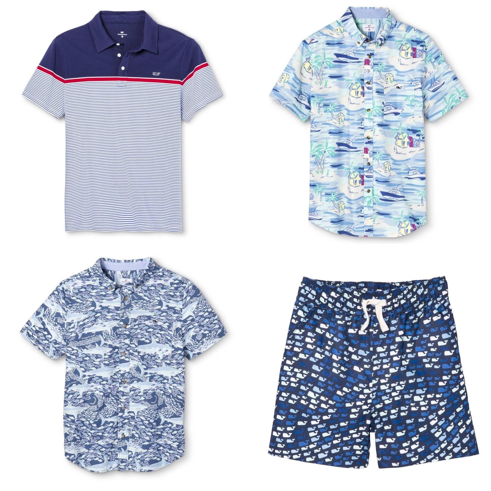 Vineyard Vines Target Boys School of Sharks Woven Button Down Shirt Short Sleeve