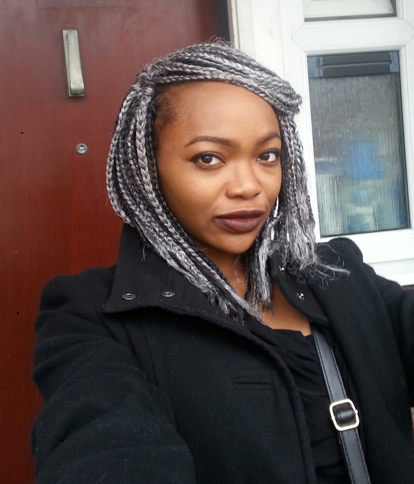 Hair Update Wash Day Grey Box Braids And A Giveaway