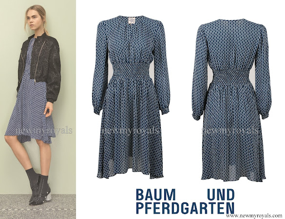 Crown Princess Victoria wears BAUM UND PFERDGARTEN Agnete Printed Dress