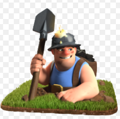 clash of clans, coc , miner