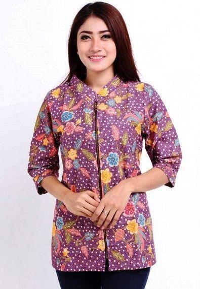 Model Baju Batik Wanita Modis Terbaru