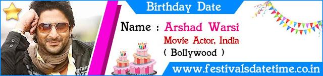 Arshad Warsi Birthday Date