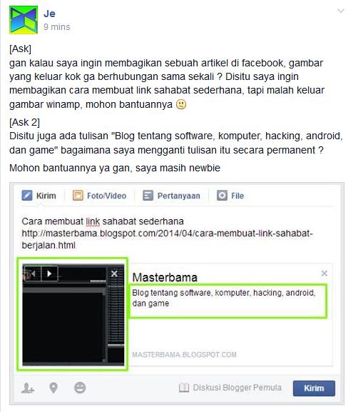 Cara Posting Link Blog ke Fan Page Facebook | TukarCerita.Com