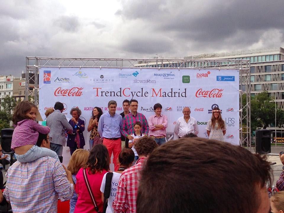 Entrega del premio a Paco Cecilio en TrendCycle 2014 - Foto: Amaya Barriuso