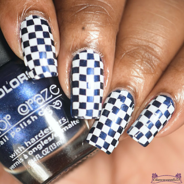Blue & White Race Flag