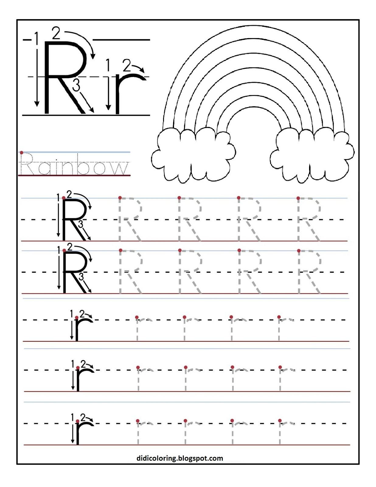 printable letter r tracing worksheets for 1 236 1 600 pixels letter r preschool. Black Bedroom Furniture Sets. Home Design Ideas
